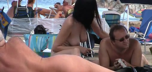 Family beach european nudist