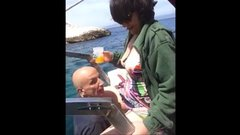 Slut exhibitionist wife caught fucking with stranger on a boat