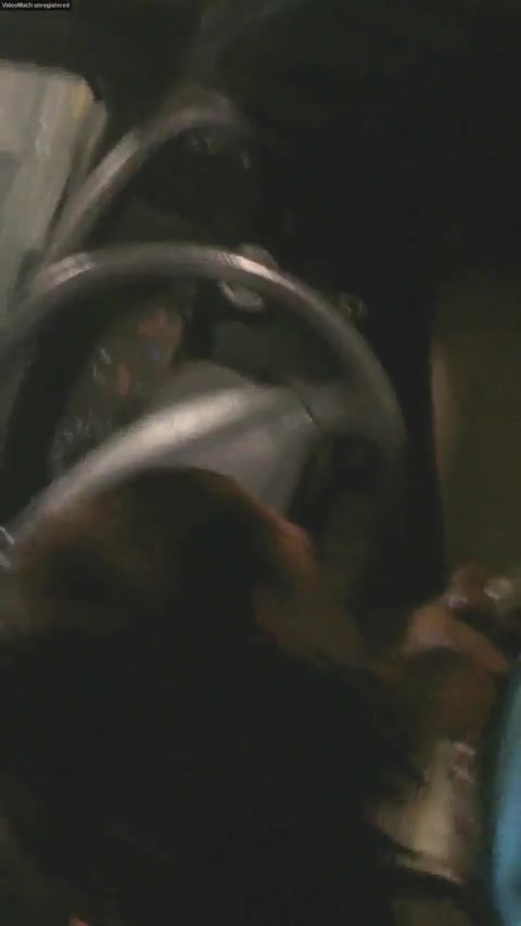 Hooker doing a blowjob in car to client