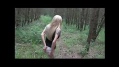 Outdoor blowjob and sex with a hot blonde